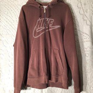 Nike zip up hoodie sweater